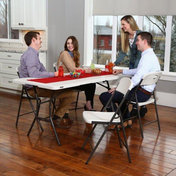 Półkomercyjne krzesło składane (migdałowy) 80587