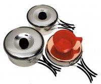 Menażka zestaw do gotowania ze stali nierdzewnej MFH (1 os.)