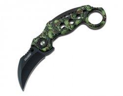 Nóż składany Master Cutlery Tac-Force Karambit Green Skull Camo (TF-578GNSC)