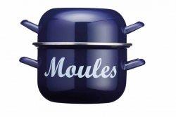 Garnek do małży MOULES niebieski - 18 cm Kitchen Craft