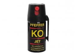 Gaz obronny pieprzowy KO JET 40 ml - strumień