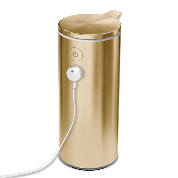 Dozownik bezdotykowy akumulatorowy 266ml - złoty / simplehuman