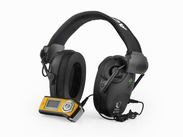 Słuchawki ochronne aktywne RealHunter ACTiVE Pro czarne + okulary ochronne
