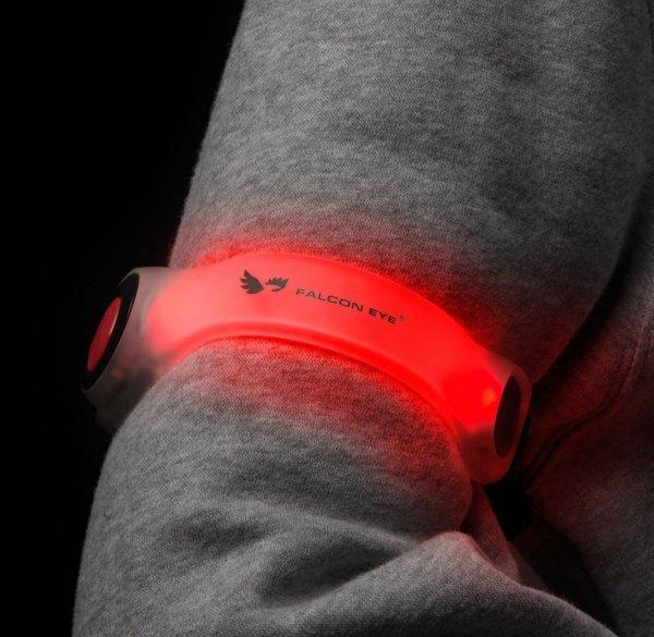 Opaska LED z rzepem, czerwone światło Mactronic STRAPO2-BA