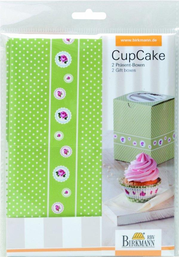 Pudełka prezentowe COTTAGE GARDEN na 1 cupcake - 2 szt Birkmann