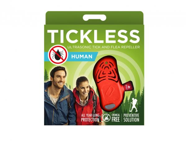 Ultradźwiękowy odstraszacz kleszczy TickLess dla ludzi - pomarańczowy (PRO-10-203)