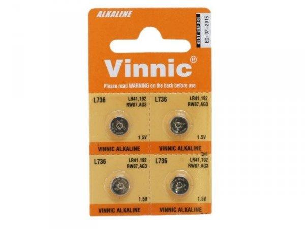 Baterie alkaliczne AG3 Vinnic, 4 szt. blister