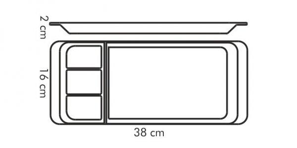 Taca do serwowania dziel GUSTITO 38X16 cm