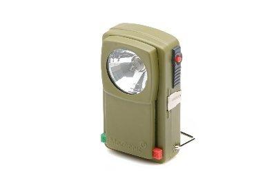 Płaska latarka bateryjna z filtrem zielonym i czerwonym
