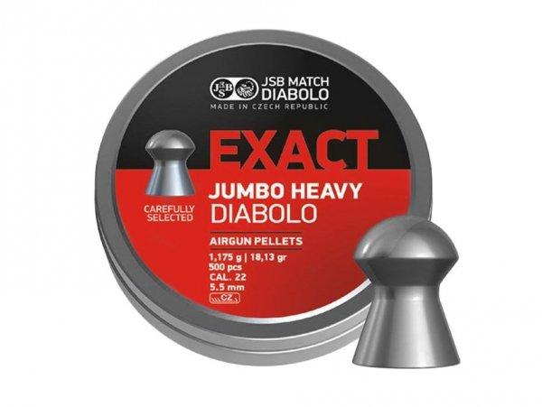Śrut diabolo JSB Exact Jumbo Heavy 5,53 mm 250 szt.