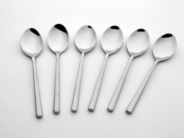 Gerlach Sztućce Horizon - komplet łyżeczek do herbaty 6 szt. dla 6 osób, połysk