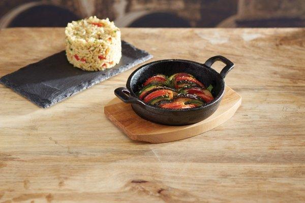 Patelnia żeliwna mini z deską do serwowania 12.5 cm Kitchen Craft