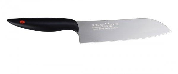 Kasumi Nóż Santoku kuty Titanium dł. 18 cm