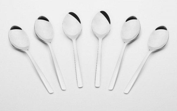 Gerlach Modern - komplet 6 szt. łyżeczek do herbaty, wysoki połysk