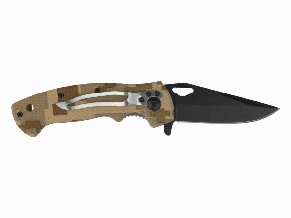 Nóż Joker kamuflaż desert ostrze 8 cm