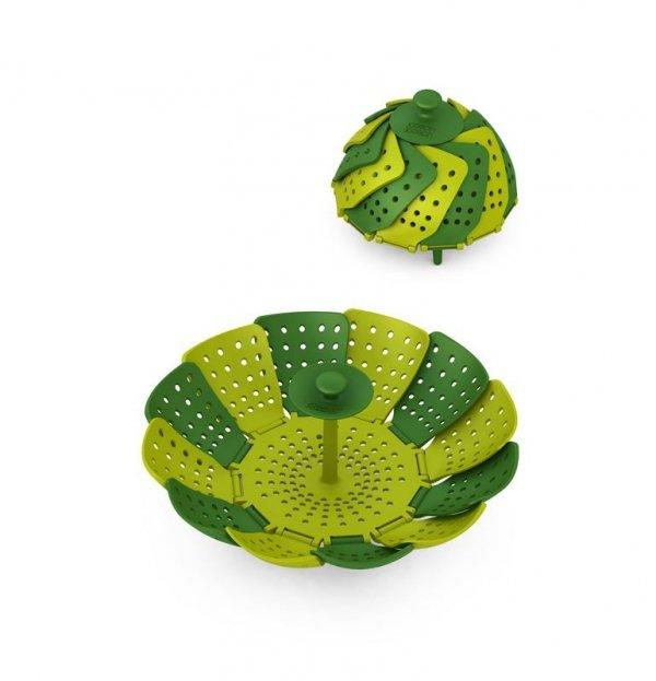 Koszyk do gotowania na parze zielony HPBA