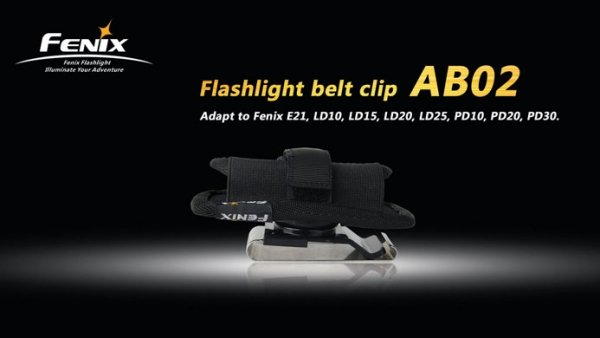 Klips na pasek do latarki Fenix seria L/P/E AB02