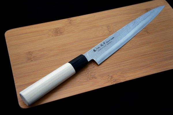 Nóż Yanagi Sashimi 21 cm Satake Nashiji Natural