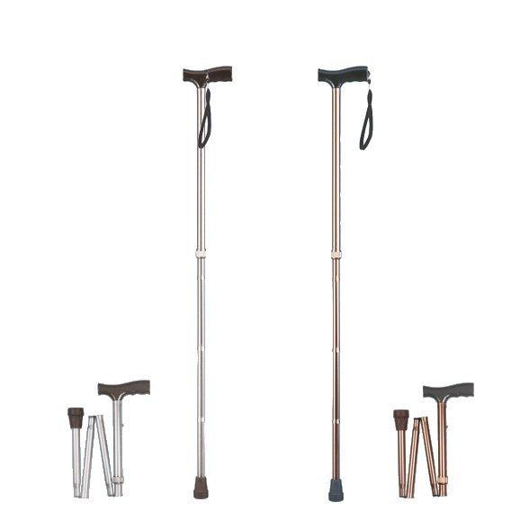 Laska inwalidzka aluminiowa - składana AR-015 Srebrna