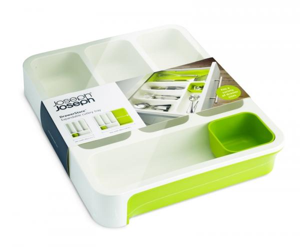 Joseph Joseph Organizer do szuflad na sztućce,biało-zielony