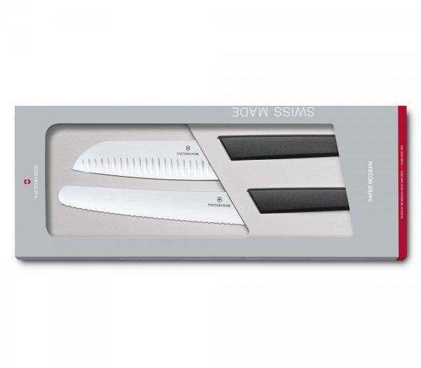 Zestaw 2 noży kuchennych Swiss Modern Victorinox  czarny  6.9093.22G