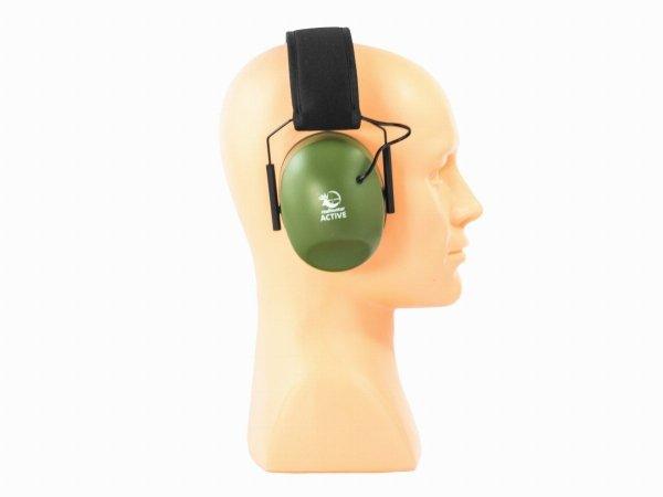 Słuchawki ochronne aktywne RealHunter ACTiVE oliwkowe