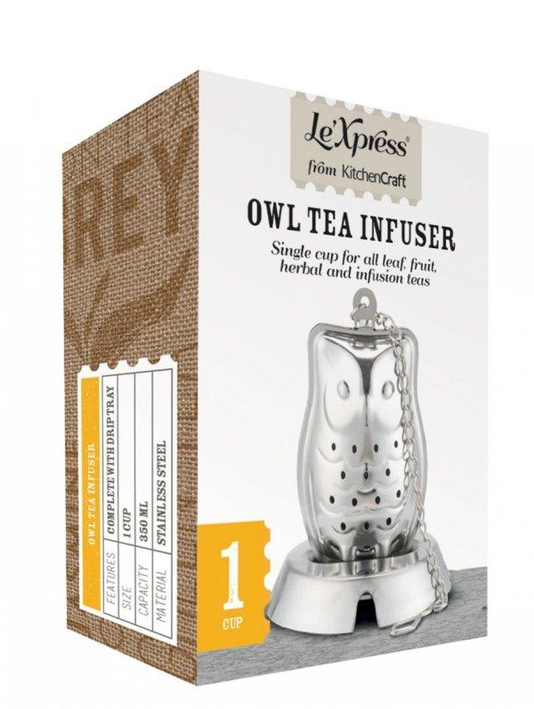 Kitchen Craft Zaparzacz do herbaty SOWA - z podstawką