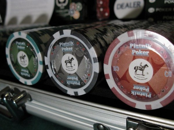 Piatnik Poker Alu-Case - 500 żetonów 14g