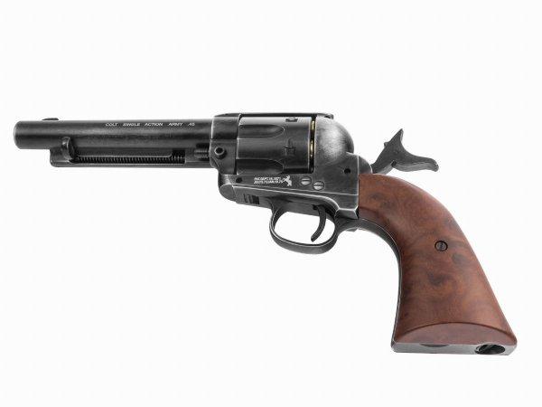 "Rewolwer Colt SAA .45-5,5"" antyk 4,5 mm CO2"