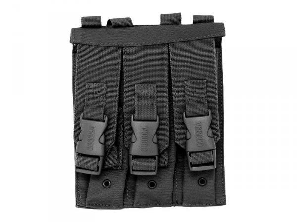 Pokrowiec na magazynki MP5, potrójny, czarny