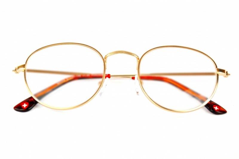 Gemi +2,0 - Okulary Korekcyjne - Złote