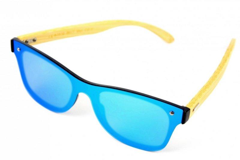 Waterfall - Drewniane Okulary Polaryzacyjne - Niebieskie