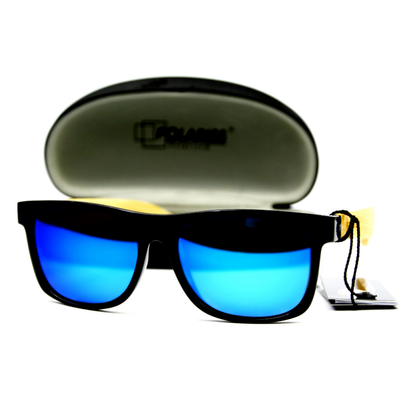 Jungle - Drewniane Okulary Polaryzacyjne - Niebieskie