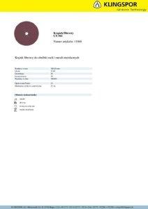 KRĄŻEK FIBROWY CS561 GRANULACJA 36 180MM 11060