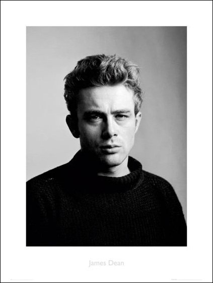James Dean portrait - plakat premium