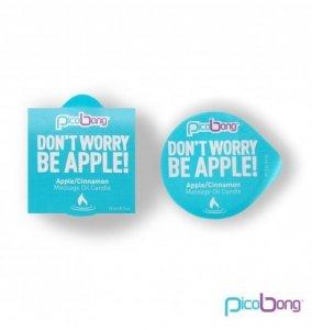 Picobong Świeca do masażu - jabłkowo-cynamonowa