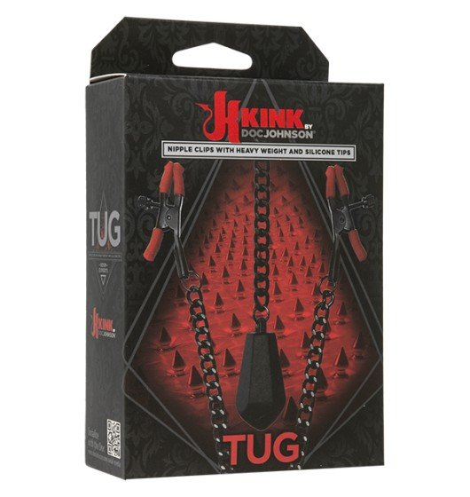 Kink Tug - Nipple Clips with Heavy Weight and Silicone Tips