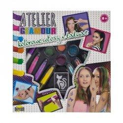 Atelier glamour kolorowe włosy 25 elementów