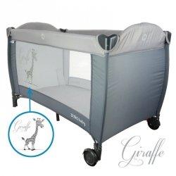 Łóżeczko podr. żyrafa grey