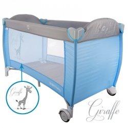 Łóżeczko podr. żyrafa blue