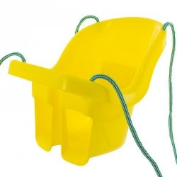 Huśtawka kubełkowa żółty