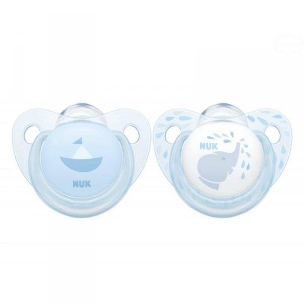 Smoczek sil.6-18 baby blue 2sz