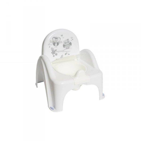 Nocnik-krzesełko sowa biały