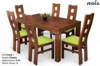 Stół Ursyd + 6 krzeseł Tabako
