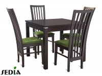 Stół Kwant 1 + 4 krzesła Riso