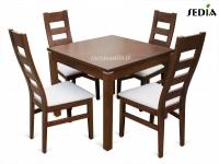 Stół Kwant 1 + 4 krzesła Argo