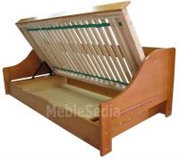 Łóżko z pojemnikiem Maro 90 - sosna pachnąca