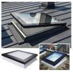 Fakro Okno do dachu płaskiego DMF DU6 z ultra-energooszczędną szybą DU6 Uw=0,70 W/m2K, otwierane manualnie, drążek 220 cm