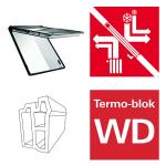 Okno dachowe Roto Designo i8 Comfort Okno uchylne, automatyczne i89G K2EF Okno z pakietem 3-szybowym Comfort, szkło hartowane i laminowane, plastikowe Uw = 0,99, Termo-blok WD
