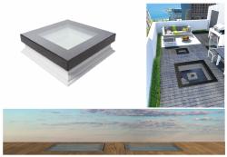 Fakro Okno do płaskiego dachu DXW DW6  nieotwierane Uw =0,70 W/m²K, przystosowane do chodzenia po nim